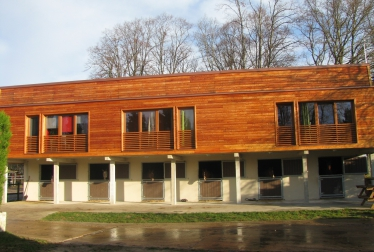Wooden element houses